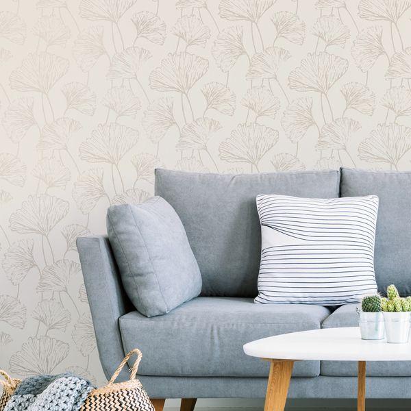 Silver Hikarigaoka Peel And Stick Wallpaper Peel And Stick Wallpaper Nuwallpaper Silver Wallpaper