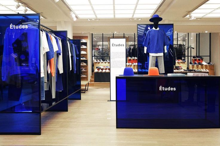 Études Pop Up Store at Le Bon Marché, Paris @lebonmarcherivegauche #rivegauche #etudesblue #etudesstudio @bonsoir_paris