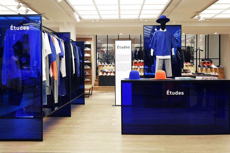 Études Pop Up Store at Le Bon Marché, Paris @lebonmarcherivegauche #rivegauche #etudesblue #etudesstudio @bonsoir_paris