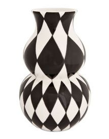 Bold black and white vase