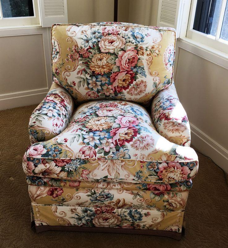 Brunschwig fils down stuffed whitehall swivel chair and