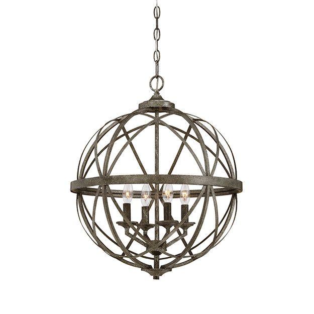 lakewood orb chandelier blackened silver - Sphere Chandelier