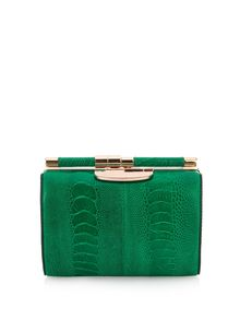Tyler Alexandra Jamie small ostrich clutch, £1,170, Matches Fashion  -  Bag it now: the new handbag brands on the block Two new luxury handbag brands show that our arm candy obsession is going nowhere, says Caroline Issa