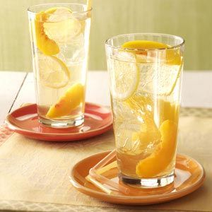 Peach Wine Coolers Recipe -The fantastic flavors of honey, wine and brandy come through to make a special drink for Easter brunch. It's like sunshine in a glass!—Annie Hendricks, Burbank, California