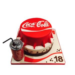 Coca Cola 3D taart