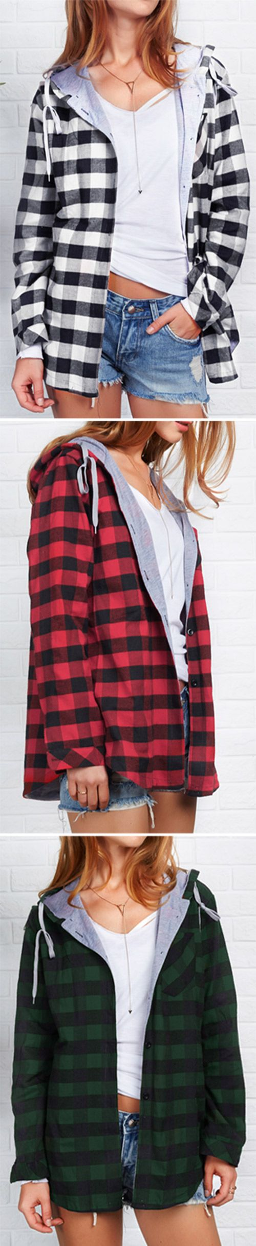 Take it, $24.99 Now! Short Shipping Time! Easy Return + Refund! Get ready to stun everyone in this top! This top has all the wow factors in the details-classic plaid pattern and a lovely hood. Save more pieces at Cupshe.com