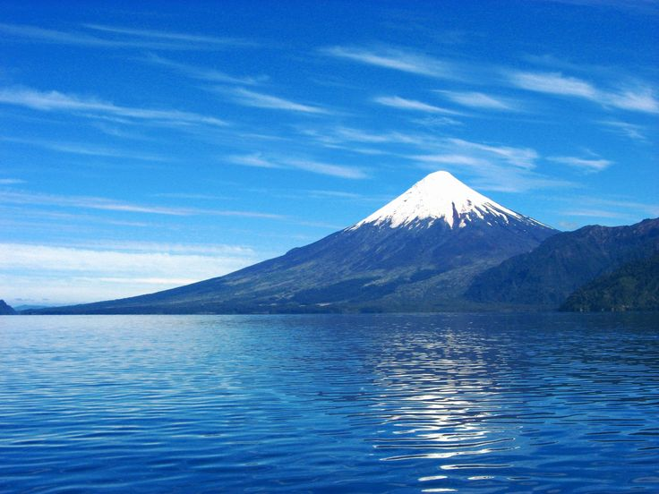 """Todos los Santos Lake and Osorno Volcano"". Southern Chile"
