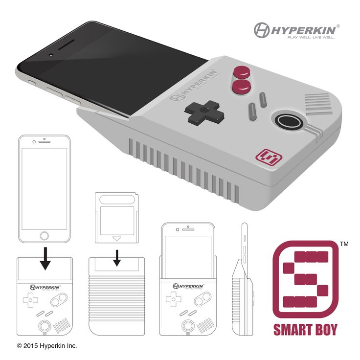 Thanks to Hyperkin's Smart Boy device, you can do the unthinkable and turn your iPhone into a vintage-style handheld Game Boy console.