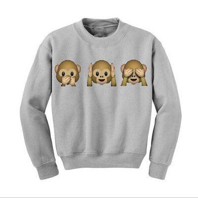 Sueter Feminino 2015 Fall Fashion Women Clothing Cartoon Cute Womens Hoodie Monkeys Adventure Time Sweatshirt Hoddies Femme