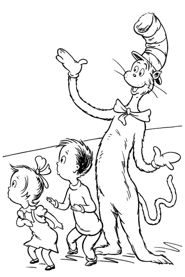 Cat In The Hat Coloring Pages Dr Seuss Coloring Pages Cartoon
