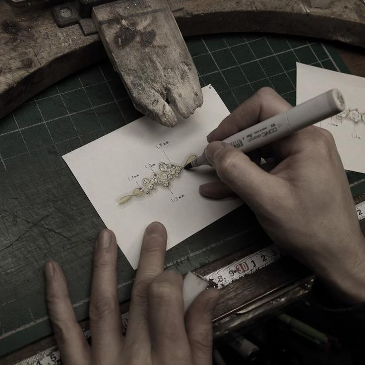 At Kataoka everything is made by hand, from the design sketches to the finished product. Discover the most romantic Japanese jeweller creating inspirational engagement rings fit for a fairytale wedding: http://www.thejewelleryeditor.com/bridal/interview/interview-yoshinobu-kataoka-engagement-rings/ #jewelry