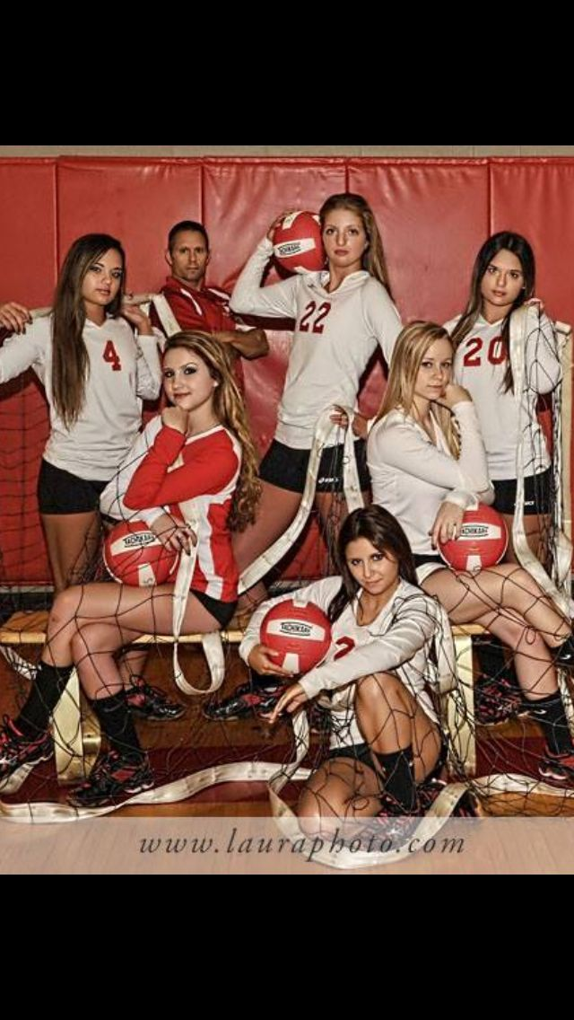 Volleyball team senior photo