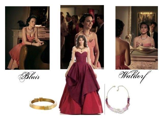 Blair Waldorf Outfit 3 - Gossip Girl by hemmo1drauhl on Polyvore featuring moda, Alexis Bittar and Oscar de la Renta