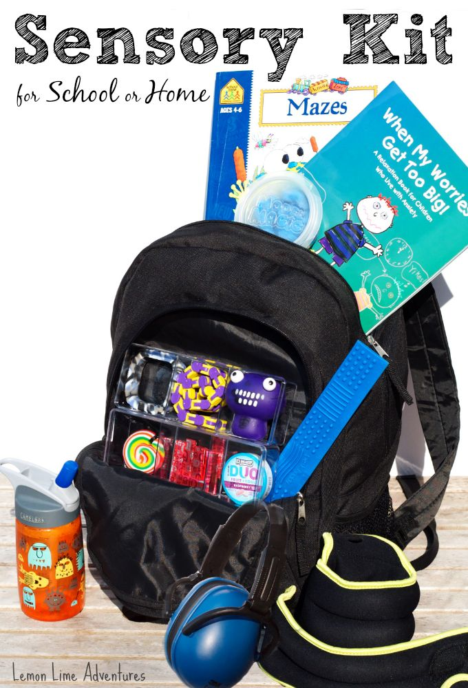 Sensory Kit for School or Home | Sensory Tools to help calm and soothe children #sensory #backtoschoolwithkbn #backtoschool