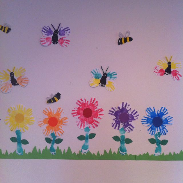 Infant art from @jennyamenson bees butterflies and flowers ...