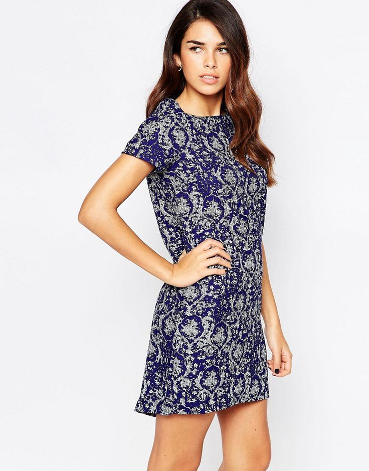 Buy it now. AX Paris Shift Dress with Slight Dip Back - Navy. Dress by AX Paris, Printed fabric, Boat neckline, Roll sleeves, Dip hem, Regular fit - true to size, Hand wash, 100% Polyester, Our model wears a UK 8/EU 36/US 4 and is 168 cm/5'6� tall. , vestidoinformal, casual, camiseta, playeros, informales, túnica, estilocamiseta, camisola, vestidodealgodón, vestidosdealgodón, verano, informal, playa, playero, capa, capas, vestidobabydoll, camisole, túnica, shift, pleat, pleated, drape, ...