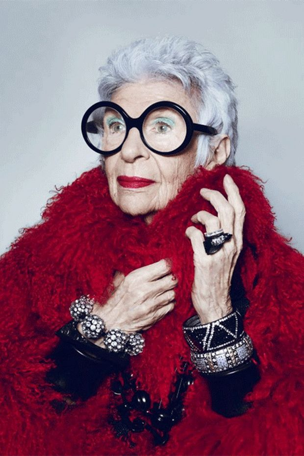 Iris Apfel: 'There's no glamour or mystery any more.' This photo makes me happy :))