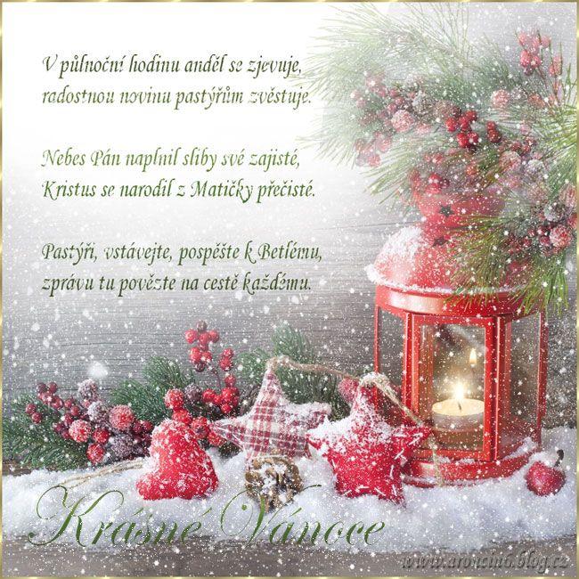 Vánoční přání s říkankou