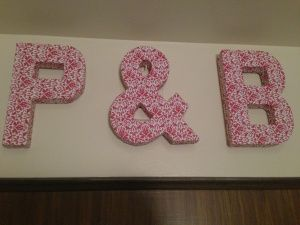 DIY Scrapbook Paper Covered Letters