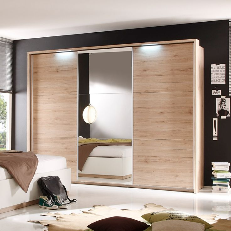 Armoire portes coulissantes dajana i imitation ch ne for Armoire chambre parents