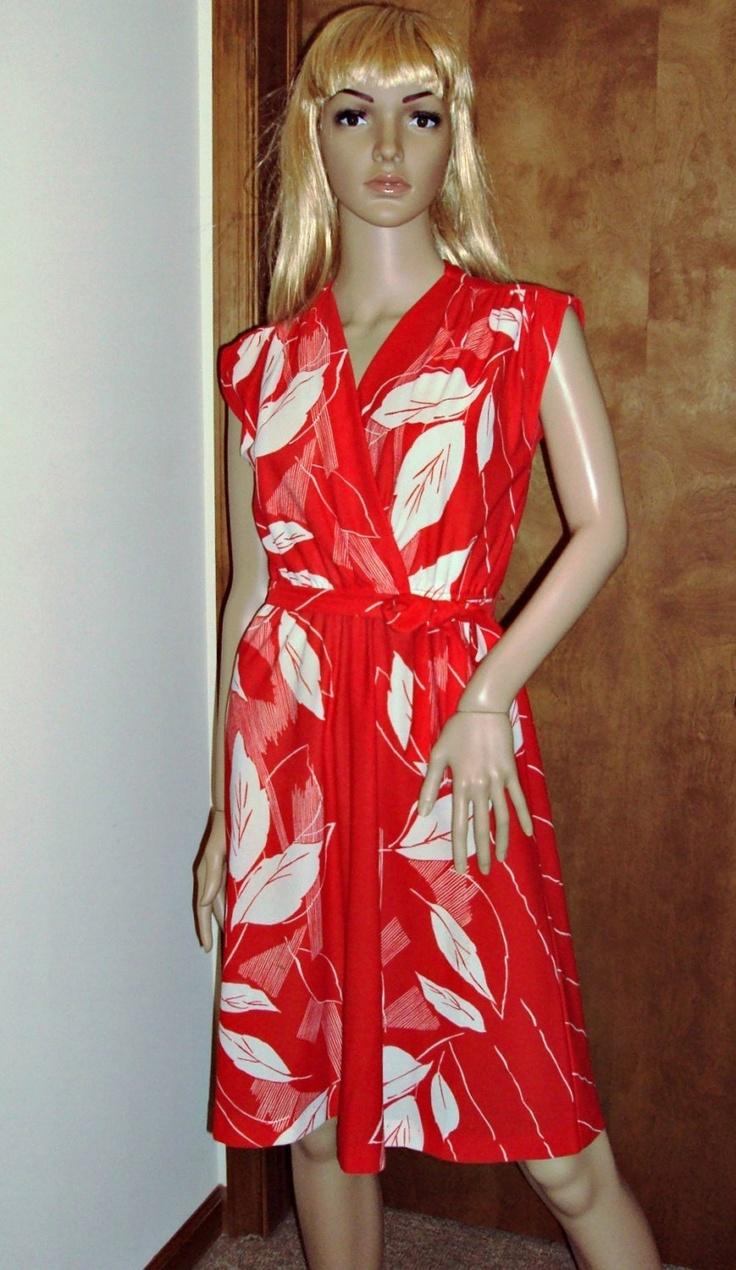 Sheer Red Amp White Secretary Vintage Mini Dress Womens