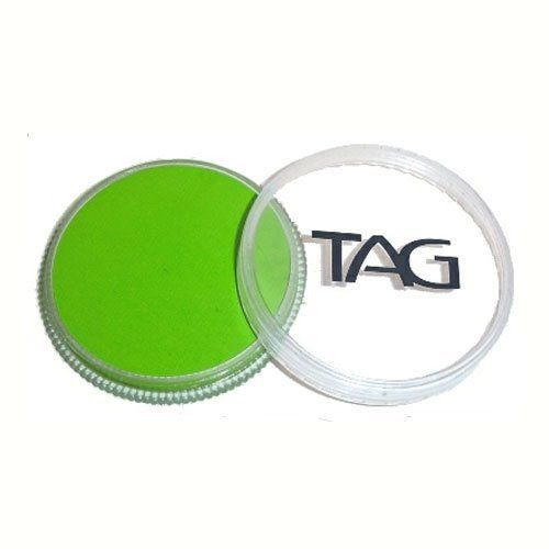 TAG Face Paints - Light Green (32 gm) by TAG Body Art. $6.47. TAG face paint is hypoallergenic and made with non-toxic, skin safe ingredients.. TAG Face Paint is very easy to blend, soft on the skin and does not crack or peel.. Great for line work. Each 32 gram TAG Face Paint Container is good for 50-200 applications.. TAG Light Green Face Paint is very easy to blend, soft on the skin and does not crack or peel. Most of TAGs face painting colors are great for line w...