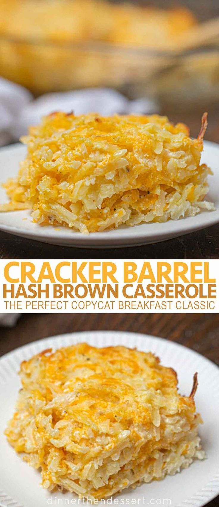 Cracker Barrel Hash Brown Casserole Is The Perfect Copycat Breakfast Classic With Shredded Ha Hashbrown Casserole Recipe Hash Brown Casserole Hashbrown Recipes