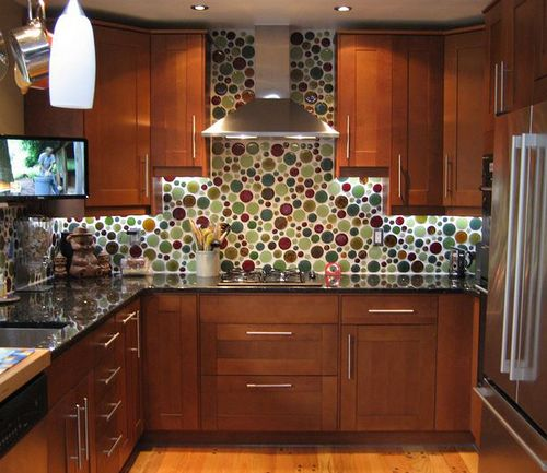 Bubble Glass Backsplash Expensive But Worth The Fun
