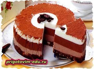 Шоколадно-кофейный чизкейк