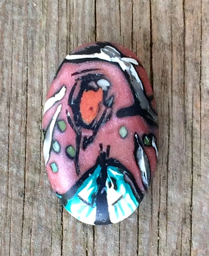 Polymer clay pendant by Katherine T -  Barn Burd Designs http://barnburd.blogspot.com/  for ABSS Bead challenge Sept 2017
