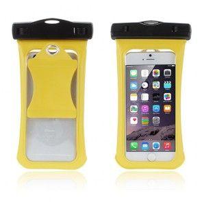 V3 Vandtæt Pose til 4,7'' Smartphones, Størrelse: 15,3 x 8cm - Gul