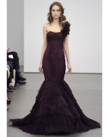 Vera Wang: Wang Spring, Vera Wang, Wang 2013, Wedding Dressses, Mermaids Wedding Dresses, Weddings, Colors, Black Wedding Dresses, Spring 2013