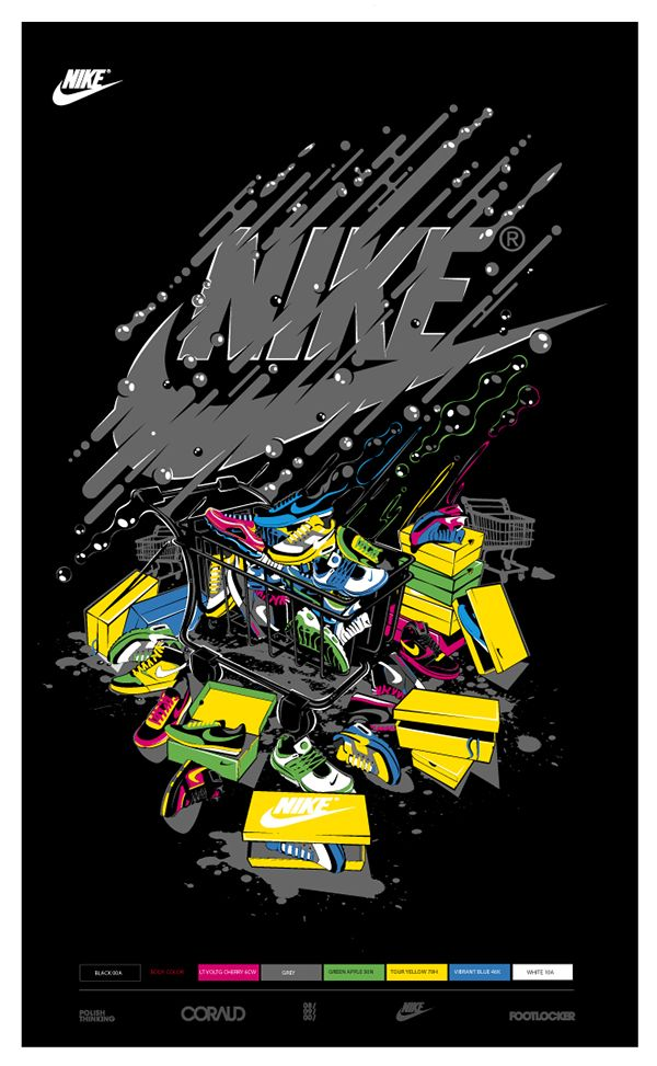 20484045 T-shirts for Nike / Footlocker store - Europe   Papichulo in 2019 ...
