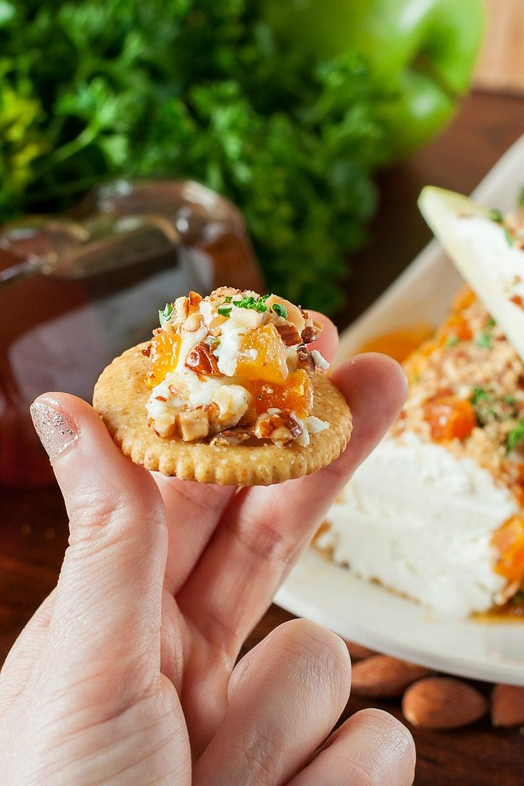 Honey, Apricot, and Almond Goat Cheese Spread