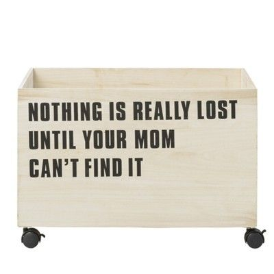 Förvaringsbox i trä - Nothing is really lost until your mom can't find it - Bloomingville