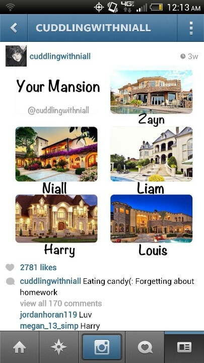 Although if u live witb one of the five boys, who really needs a mansion anyway?