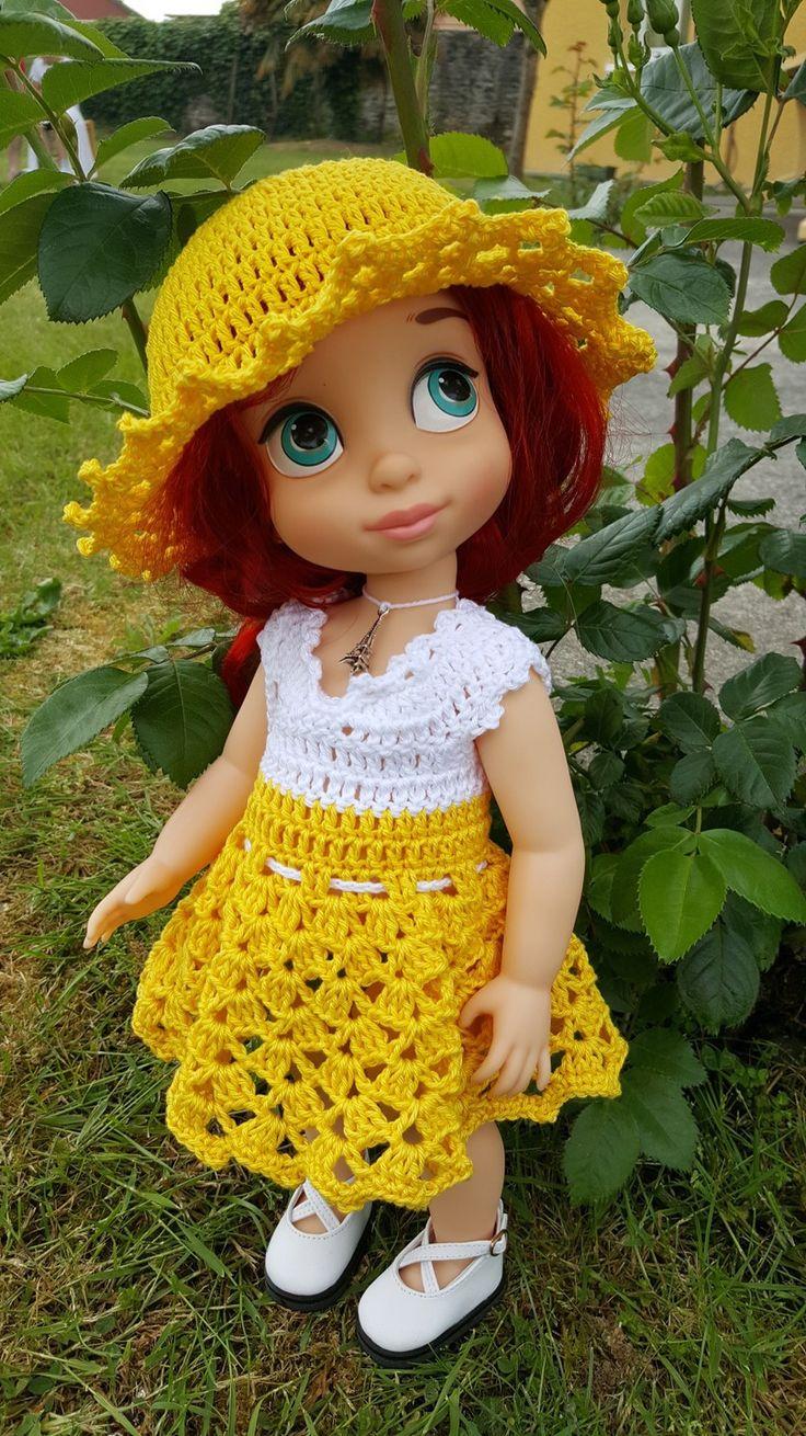 130- FICHE PATRON CROCHET Ensemble Clélie pour poupée Animator : Jeux, jouets par atelier-crochet