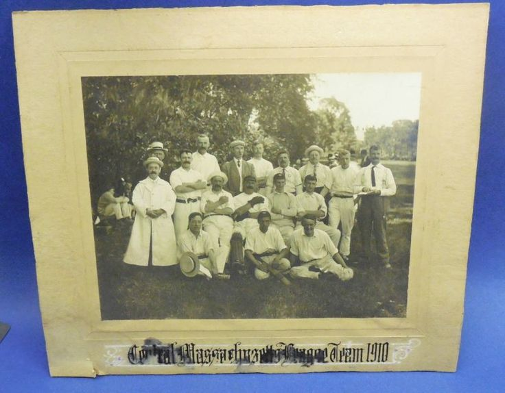 1910 Team Photo  Cricket ?? - Central Massachusetts Leauge.