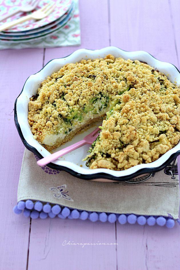 Crumble Salato con Ricotta, Zucchine e Speck