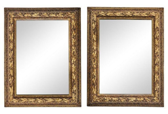 Antique French Mirrors, Pair