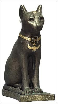 Small Bast Cat Egyptian Statue