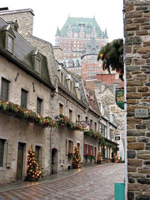 Quebec City. A Christmas tree on every door? I could live there.