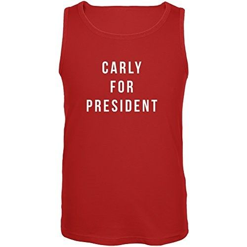 Election 2016 Carly Fiorina For President Red Adult Tank Top, Size: XL