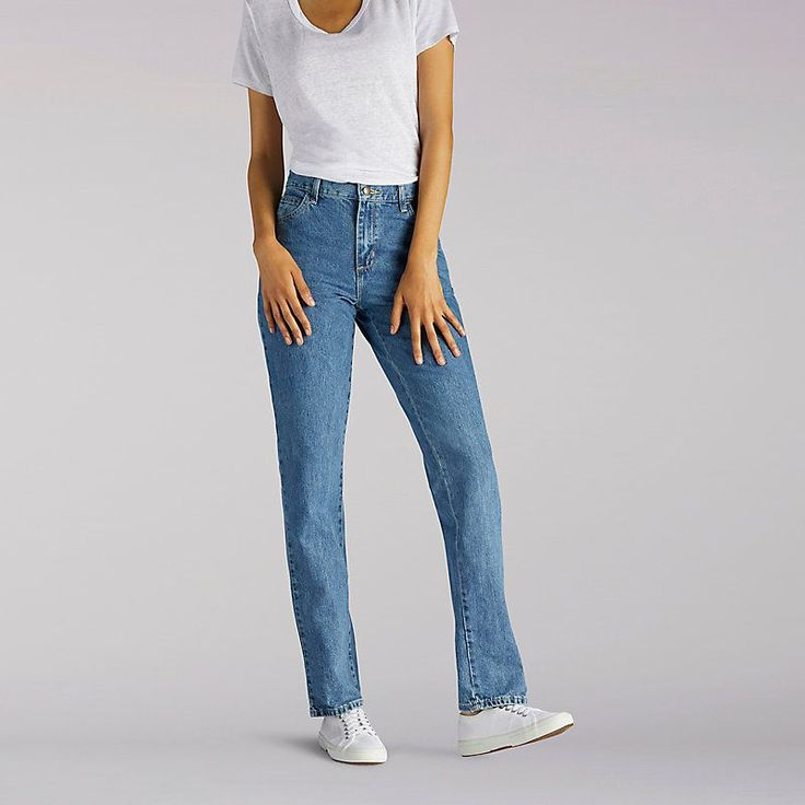 Lee Women's Original Relaxed Fit Straight Leg Jeans - Tall (Size 12 x T)