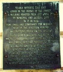Salem Witch Trials 1692 Sites