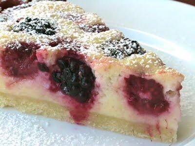 Raspberry Blackberry Creme Fraiche Tart | Pie | Pinterest