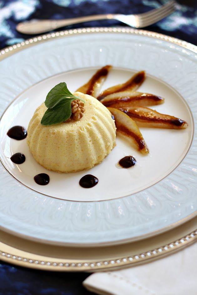 Chiarapassion: Flan al parmigiano con pere caramellate e riduzione all'aceto balsamico