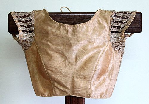 Light Brown Blouse with Lace Back – Desically Ethnic
