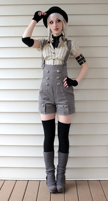 EVERYTHING ABOUT THIS IS ADORABLE. The outfit, the makeup-- gosh!! I love it!