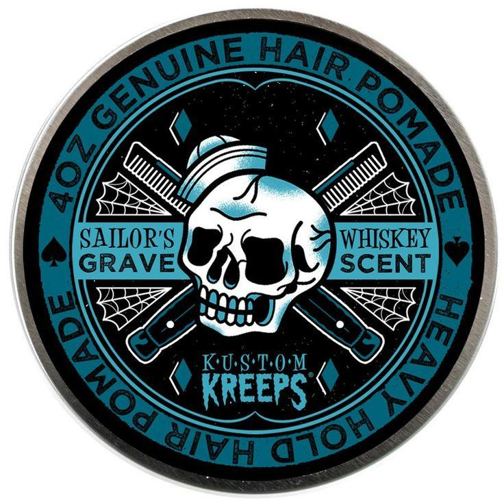 Sailor's Grave Heavy Pomade Rockabilly Psychobilly Pompadour Skull  http://www.inkedboutique.com